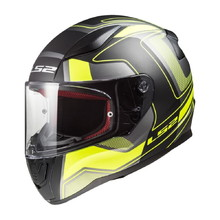 Motorcycle Helmet LS2 FF353 Rapid Carrera Black H-V Yellow