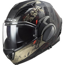 Flip-Up Motorcycle Helmet LS2 FF900 Valiant II Gripper P/J