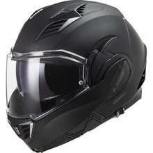 Flip-Up Motorcycle Helmet LS2 FF900 Valiant II Noir P/J