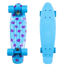 "Penny Board Fish Print DOTS 22"" - Blue-Blue"
