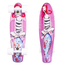 "Penny Board ArtFish Girl 22"" - White"
