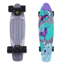 "Penny Board Fish Print 22"" - Black Fish"