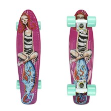 "Penny Board ArtFish Girl 22"" - White-Green"