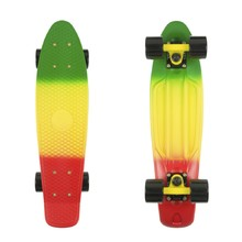 "Penny Board Fish Classic 3Colors 22"" - Grey+Yellow+Red-Black-Black"