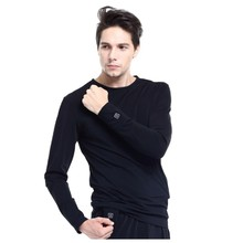 Heated Long-Sleeve T-Shirt Glovii GJ1 - Black