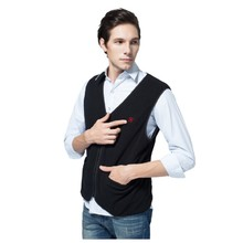 Heated Fleece Vest Glovii GV1 - Black