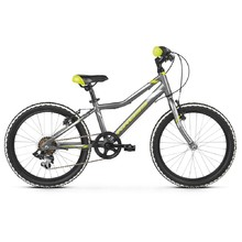 "Children's Bike Kross Hexagon Mini 1.0 20"" – 2020 - Graphite / Lime / Silver Glossy"