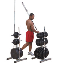 Storage Rack for Bars and Weight Plates Body-Solid GOWT Olympic 2in1