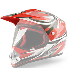Replacement Visor for WORKER V340 Helmet - Red and Graphics
