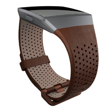 Replacement Smart Watch Band Fitbit Ionic Leather Cognac