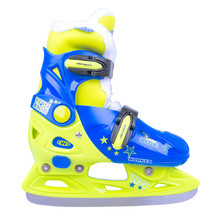 Boys' Ice Skates WORKER Kelly Pro Boy – with Fur - Blue-Green