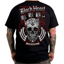 T-Shirt BLACK HEART King Road - Black