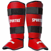 Shin Instep Guards SportKO 331 - Red