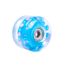 Light-Up Skateboard Wheel PU 50*36mm + ABEC Bearings - Blue