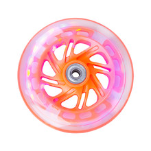 Shining wheel for scooter PU 125*24 mm with ABEC 5 bearings - Orange