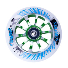 Spare wheel for scooter FOX PRO Raw 03 100 mm - White-Green