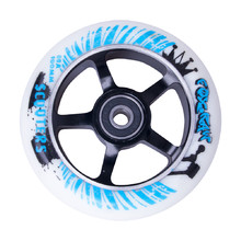 Spare wheel for scooter FOX PRO Raw 03 100 mm - White-Black