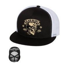 Baseball cap BLACK HEART Devil Skull Trucker