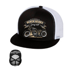 Snapback Hat BLACK HEART Jawa 350 Trucker - White