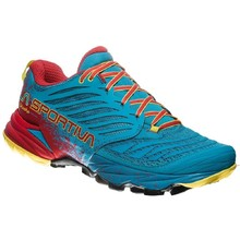 Men's Trail Running Shoes La Sportiva Akasha - Tropic Blue/Cardinal Red