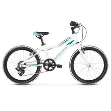 "Children's Bike Kross Lea Mini 1.0 20"" – 2020 - White / Turquoise Glossy"