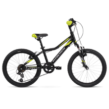 "Children's Bike Kross Level Mini 2.0 20"" – 2020 - Black / Lime / Blue Glossy"