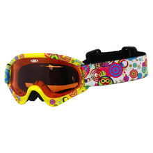 Kids ski goggles WORKER Sterling with graphics - Z12-YEL-yelow graf.