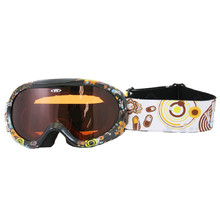 Junior ski goggle  WORKER Doyle with graphics - Black Graphics