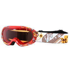Junior ski goggle  WORKER Doyle with graphics - Red and Graphics