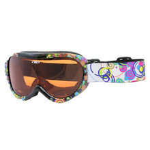 Kids ski goggles WORKER Miller with graphics - Z12- BLK- black