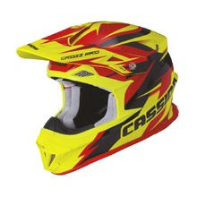 Motocross Helmet Cassida Cross Pro - Red/Fluo Yellow/Black