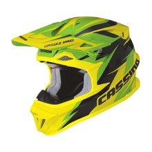 Motocross Helmet Cassida Cross Pro - Green/Fluo Yellow/Black