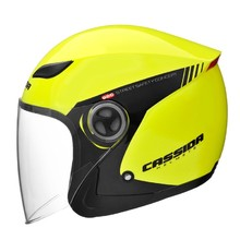 Motorcycle Helmet Cassida Reflex Safety - Black-Fluo Yellow