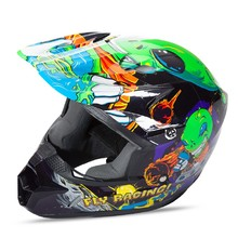Children's Motocross Helmet Fly Racing Kinetic Youth Invasion - Green-Black