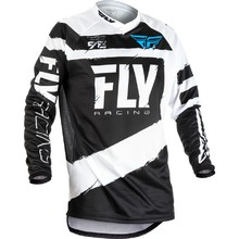 Motocross Jersey Fly Racing F-16 2018 - Black-White