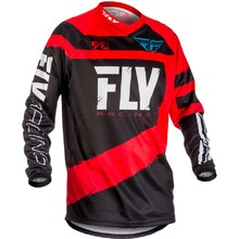 Motocross Jersey Fly Racing F-16 2018 - Red-Black