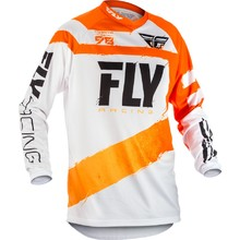Motocross Jersey Fly Racing F-16 2018 - Orange-White