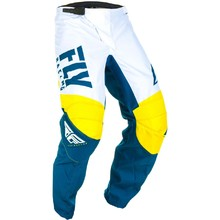 Motocross Pants Fly Racing F-16 2019 - Yellow/White/Blue