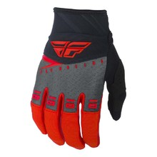 Motocross Gloves Fly Racing F-16 2019 - Red/Black/Grey