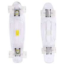 Pennyboard Maronad Retro Transparent W/ Light Up Wheels - White