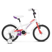 "Children's Bike Kross Mini 3.0 16"" – 2019 - White / Red / Violet Glossy"