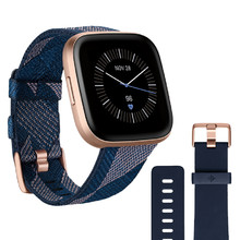 Smart Watch Fitbit Versa 2 Special Edition Navy & Pink Woven