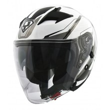 Motorcycle Helmet Yohe 878-1M Graphic - White
