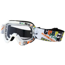 Junior motorcycles glasses W-TEC Benford with graphics - White Graphics