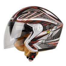 Motorcycle Helmet W-TEC V529 - Black and Graphics
