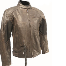 Leather Airbag Jacket Helite Roadster Vintage Brown - Brown