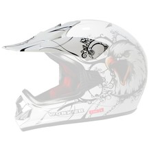 Replacement Visor for WORKER V310 Junior Helmet - White with Eagle