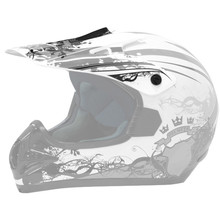Replacement Visor for WORKER MAX 606-1 Helmet - CAT silver graphic