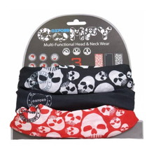 Universal Multi-Functional Neck Warmer Oxford Comfy 3-Pack - Skulls