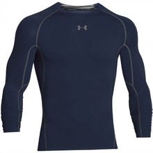 Men's Compression T-Shirt Under Armour HG Armour LS - Midnight Navy